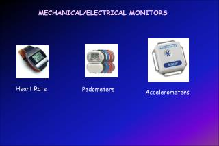 MECHANICAL/ELECTRICAL MONITORS