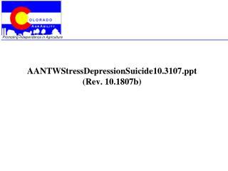 AANTWStressDepressionSuicide10.3107  (Rev. 10.1807b)