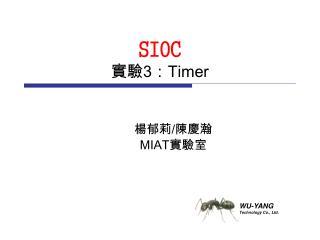 SIOC 實驗 3 : Timer