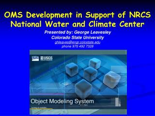 OMS Development in Support of NRCS National Water and Climate Center