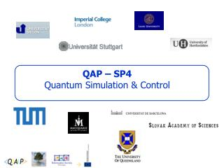 QAP � SP4 Quantum Simulation & Control