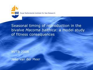 NVTB 2008 Jaap van der Meer