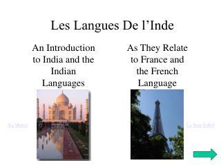 Les Langues De l�Inde