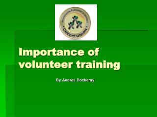 Importance of volunteer training