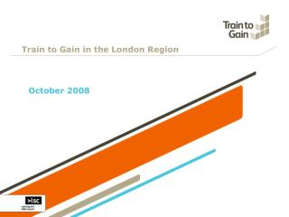 Train to Gain in the London Region