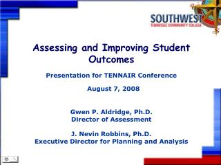 Assessing and Improving Student Outcomes