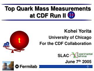 Top Quark Mass Measurements at CDF Run II