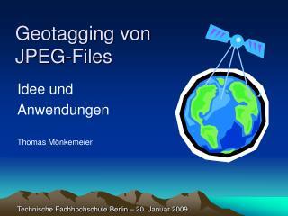 Geotagging von  JPEG-Files