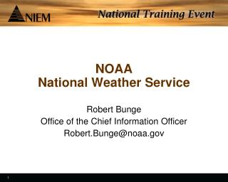 NOAA National Weather Service