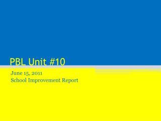 PBL Unit #10