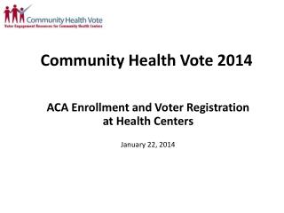 Community Health Vote 2014