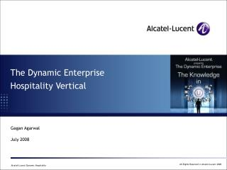 The Dynamic Enterprise Hospitality Vertical