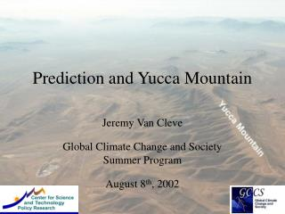 Prediction and Yucca Mountain