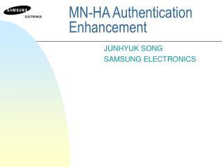 MN-HA Authentication Enhancement