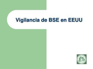Vigilancia de BSE en EEUU