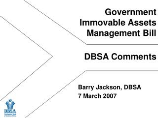 Government  Immovable Assets Management Bill