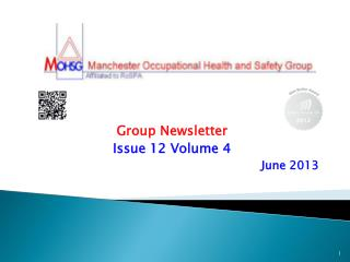 Group Newsletter Issue 12 Volume 4 June 2013