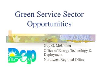 Green Service Sector Opportunities