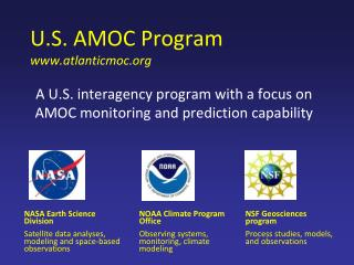 U.S. AMOC Program    atlanticmoc