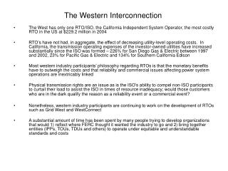 The Western Interconnection