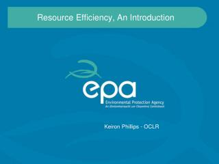 Resource Efficiency, An Introduction