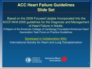 ACC Heart Failure Guidelines Slide Set