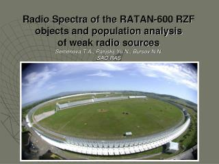 We considered the next questions: RZF (RATAN-600 Zenith Field) catalog