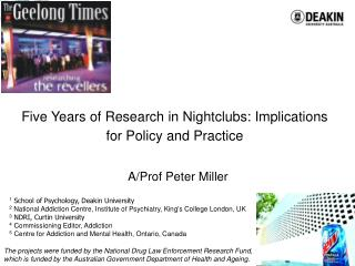 Five Years of Research in Nightclubs: Implications for Policy and Practice
