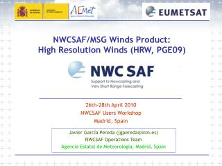 NWCSAF/MSG Winds Product: High Resolution Winds (HRW, PGE09)