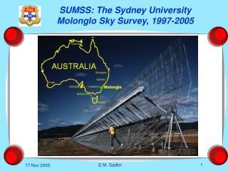 SUMSS: The Sydney University Molonglo Sky Survey, 1997-2005