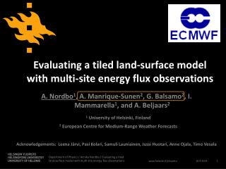 Evaluating a tiled land-surface model with multi-site energy flux observations