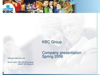 KBC Group Company presentation Spring 2006