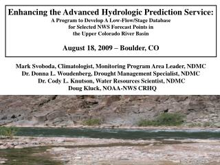 Enhancing the Advanced Hydrologic Prediction Service:
