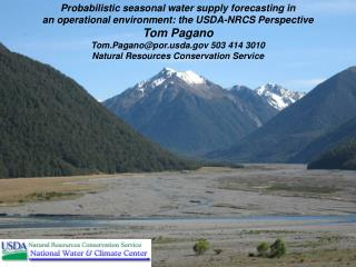 Probabilistic seasonal water supply forecasting in