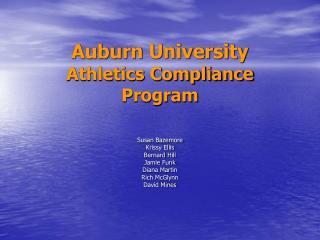 Auburn University Athletics Compliance Program