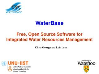 WaterBase Free, Open Source Software for  Integrated Water Resources Management