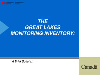 THE  GREAT LAKES MONITORING INVENTORY:
