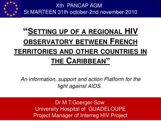 Setting up of a regional HIV observatory between French territories and other countries in the Caribbean