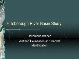 Hillsborough River Basin Study