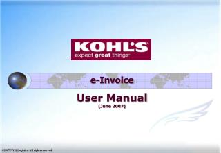 e-Invoice  User Manual (June 2007)