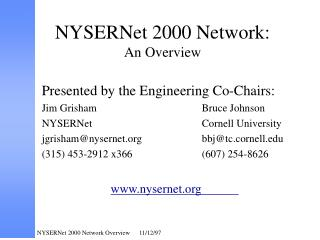 NYSERNet 2000 Network: An Overview