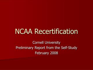 NCAA Recertification