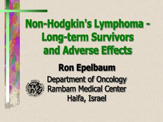 Non-Hodgkin's Lymphoma - Long-term Survivors and Adverse Effects