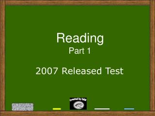 Reading Part 1