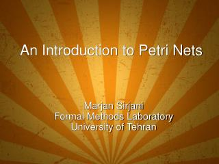 An Introduction to Petri Nets