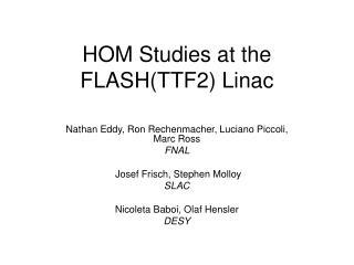 HOM Studies at the FLASH(TTF2) Linac