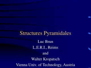 Structures Pyramidales