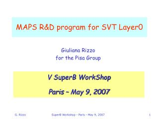 MAPS R&D program for SVT Layer0