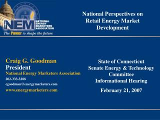 National Perspectives on Retail Energy Market Development