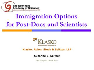 Immigration Options for Post-Docs and Scientists
